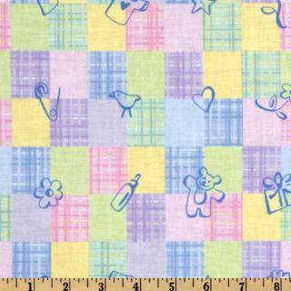 Nursery Patchwork Yellow/Blue   Discount Designer Fabric   Fabric