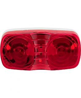 Blazer Rectangular Dual Bulb Clearance Light Red   0165119  Tractor