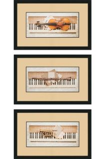 Keyboard Framed Wall Art   Set of 3   Framed Art   Wall Decor   Home