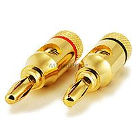 Product Image for 1 PAIR OF High Quality Copper Speaker Banana Plugs