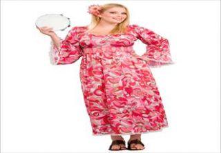 Plus Size Hippie Flower Child Plus Size Adult Halloween Costume image