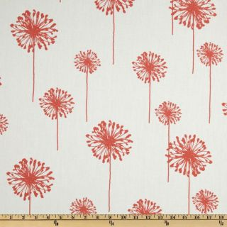 Premier Prints Dandelion White/Coral   Discount Designer Fabric