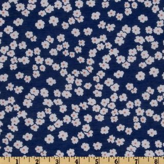 Poly Voile Floral Blue/White   Discount Designer Fabric   Fabric