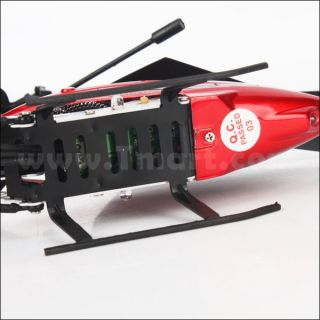 S04 2 Channel Remote Control Helicopter Red   Tmart