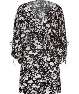 Paul & Joe Black/Ecru Printed Jersey Dress  Damen  Kleider