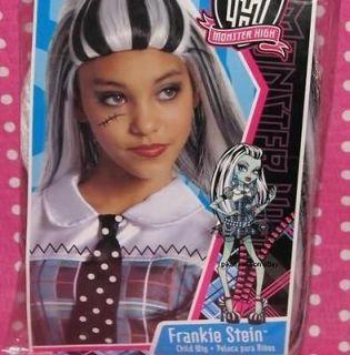 NEW Monster High Frankie Stein Doll Halloween Costume Wig Child Size
