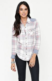 Nollie Denim Inset Plaid Shirt at PacSun