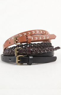 With Love From CA 3 Pack Skinny Belts at PacSun