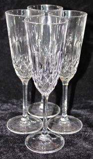 stuart crystal champagne flutes in Pottery & Glass