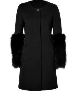 Emilio Pucci Black Wool Cashmere Coat  Damen  Mäntel