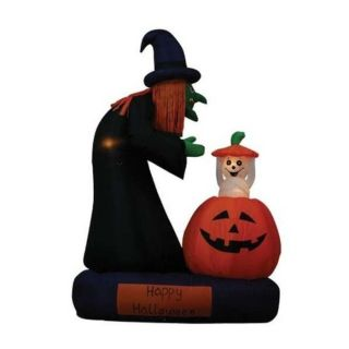 foot Animated Halloween Inflatable Witch and Rising Ghost—Buy Now!