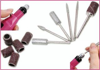 Pen Shape Electric Manicure Nail Art Drill File with 6 Bit   Tmart