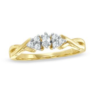CT. T.W. Diamond Swirl Fashion Ring in 10K Gold   View All Rings