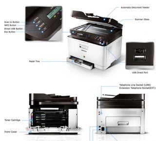 MacMall  Samsung CLX 3305FW Color Laser Multifunction Printer CLX