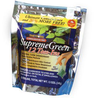 Thetford Marine Supreme Green Liquid Holding Tank Deodorant Toss Ins
