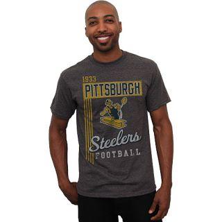 Mens Pittsburgh Steelers Vintage Vertical Lines Team Color T Shirt
