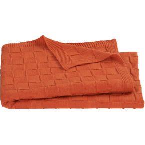 CB2   knit burnt orange throw