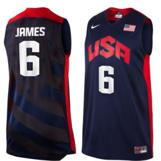 Nike Lebron James USA Basketball 2012 Replica Jersey   Navy Blue
