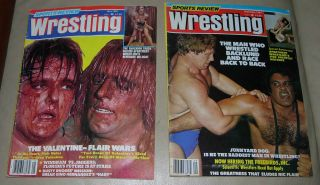 SPORTS REVIEW WRESTLING MAY AND SEPTEMBER 1981 BACKLUND ANDRE