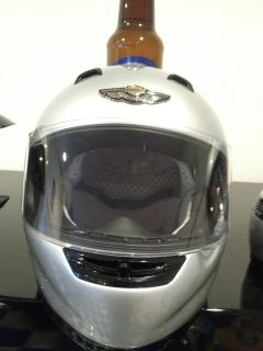 Harley Davidson 100th Anniversary Full Face Medium Helmet Silver