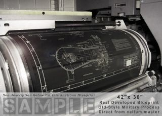 ROLLS ROYCE MERLIN V 1650 PACKARD 28 Engineering Drawing/BLUE P​RINT