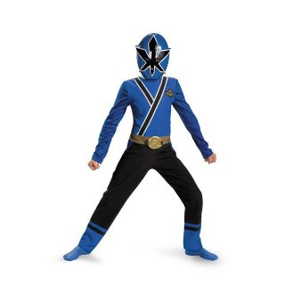 Power Rangers Blue Ranger Samurai Child Costume Size 3T 4T Disguise