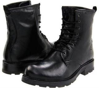 NEW GBX 09107 BLACK LEATHER LACE UP MOTORCYCLE BOOTS MENS SIZE 11