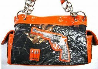 Western Purse Handbag Gun Bullets Camouflage Camo Rhinestones Studs