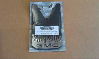 GMC FLAME LOGO MUD FLAPS SPLASH GUARDS (Fits GMC 2011)