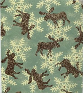 RUSTIC MOOSE GIFT WRAPPING PAPER  One Large 6 Sheet