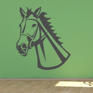 HORSE HEAD LARGE Wall Art Sticker riding kids room girls bedroom