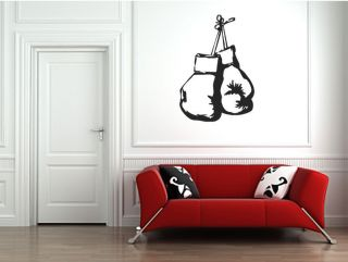 BOXING GLOVES WALL STICKERS GRAPHIC DECAL BOXER MURAL BOYS FIGHT