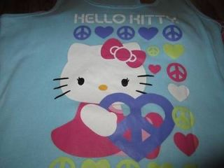 Ladies Baby BLUE Peace HELLO KITTY Shorts Set Medium 2 Piece SET