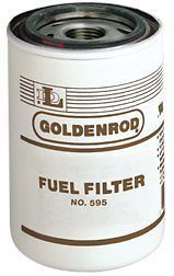 56608 (595 5) Diesel/Gas 10 Micron spin on Fuel Filter (Goldenrod)