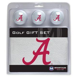 of Alabama Crimson Tide NCAA Golf Gift Set 3 Golf Balls & Golf Towel