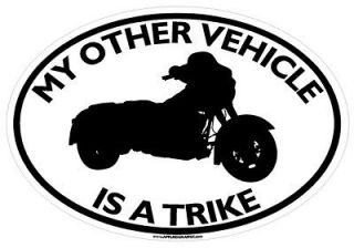 MY OTHER VEHICLE IS A TRIKE STICKER motorcycle 3 three wheeler decal
