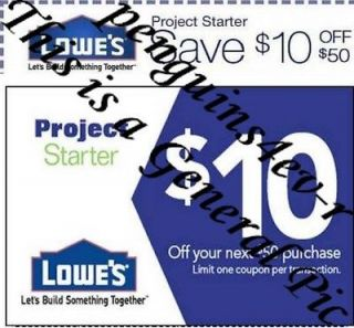 Lowes Only Not Home Depot $10 off $50 (up to 20%) x 2 Coupon 2/14 Free