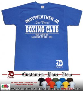 FLOYD MAYWEATHER TSHIRT MAYWEATHER JR BOXING CLUB TEAM MONEY GYM