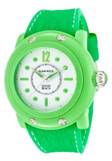 Glam Rock GR25021 Watches,Womens Miami Beach White Dial Neon Green