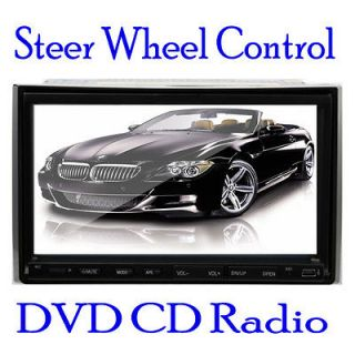 INCH Car Stereo DVD Player  USB SD Double 2 Din In Dash Radio HD
