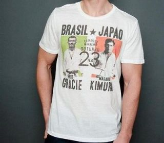 GRACIE ACADEMY GRACIE VS KIMURA JIU JITSU SHIRT WHITE SIZES S, M, L