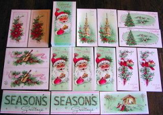 Parchment Box 1950s Vintage Christmas Cards Unused Mint Original