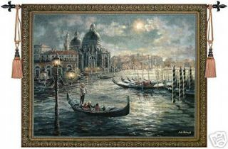 Beautiful Venice Tapestry Wall Hanging, Huge 53X41