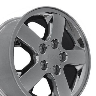 17 Chrome Clad Wheels Rims Fit Jeep Grand Cherokee OEM 2004   2012