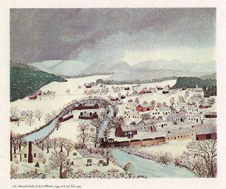 GRANDMA MOSES print Hoosick Falls NY in Winter