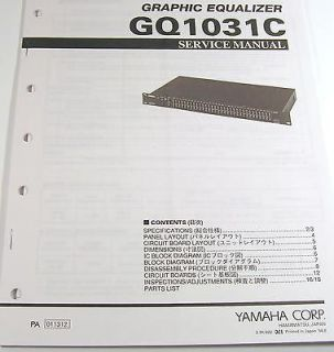 Yamaha GQ1031C Graphic Equalizer Service Manual