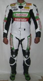 NEW 100% genuine SBK superbike Castrol Honda leather motorcycle suit