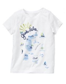 Gymboree Greek Isle Style Top 4 5 6 7 NWT White Map Tee Shirt 4T 5T