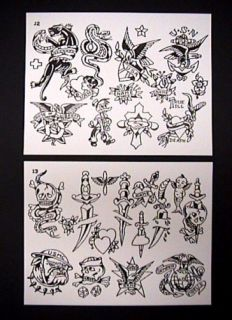 Boog tattoo flash on cd 150 sheets for Spaulding rogers tattoo