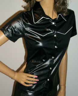 SHIMMER Wrangler Western Shirt Womens Fashion SilverLake Sexy Designer